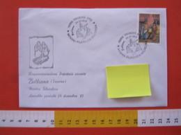 A.13 ITALIA ANNULLO 1993 TRIVERO VERCELLI BIELLA MOSTRA FILATELICA RELIGIOSA BULLIANA PRESEPIO CAMPANILE GESU BAMBINO - Cristianesimo