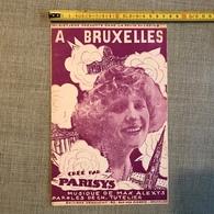 """MAGRITTE (René). """"A Bruxelles"""".Partition Pour Chant Illustrée Par René Magritte.Paroles Tutelier. Mus. - Partitions Musicales Anciennes"""