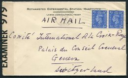 1942 GB Rothamsted Experimental Station, Lawes Agricultural Trust, Harpenden Censor Airmail Cover - Red Cross, Geneva - Lettres & Documents