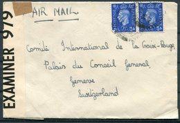 GB Censor Airmail Cover - Red Cross, Geneva Switzerland - 1902-1951 (Rois)
