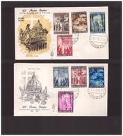 Vaticano - 21 12 1949 2 Fdc Anno Santo Ed Venetia - FDC