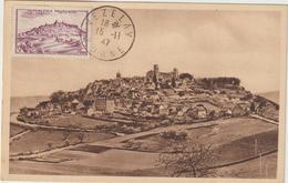 Carte-Maximum FRANCE N° Yvert 759 (VEZELAY) Obl Sp 10.11.47 (Ed Anc Basuyau) - 1940-49