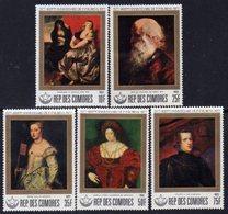 Comores N° 233 / 37 XX  400è Ann. De La Naissance De Rubens La Série Des 5 Valeurs Sans Charnière, TB - Comores (1975-...)