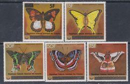 Comores N° 260 / 64 XX  Papillons La Série Des 5 Valeurs Surchargées Sans Charnière, TB - Comores (1975-...)