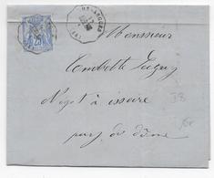 CANTAL - 1876 - LETTRE De ROUCHY Avec CONVOYEUR STATION De NUSSARGUES (NEUSSARGUES) LIGNE AUR.ARV - IND 11 - 1849-1876: Periodo Classico