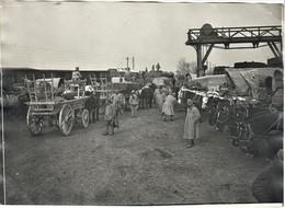 PHOTO FRANÇAISE - DECHARGEMENT EN GARE DE VILLERS SUR COUDUN PRES DE CHEVINCOURT - THOUROTTE OISE  GUERRE 1914 1918 - 1914-18