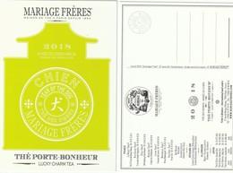 Nouvel An Chinois 2018 ** L'année Du CHIEN ** MARIAGE Frères   R/V - Perfume Cards