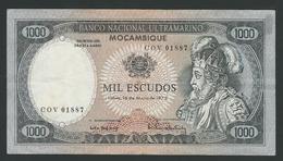 MOZAMBIQUE  1000 ESCUDOS 1972  PIK-112  SIGNATURE 6  VF - Mozambique