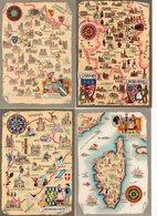 LOT 11 CP - Illustrateur - M. Barré & J. Dayez - Cartes Géographiques - Régions De France - Illustrators & Photographers
