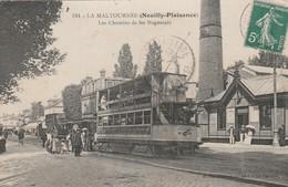 CPA:LA MALTOURNÉE NEUILLY PLAISANCE (93) TRAMWAYS N° 89 CHEMINS DE FER NOGENTAIS..ÉCRITE - France