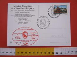 A.13 ITALIA ANNULLO 1994 MEZZANA MORTIGLIENGO VERCELLI BIELLA AQUILA STEMMA CARD CASAPINTA STRONA CROSA SOPRANA - Aquile & Rapaci Diurni