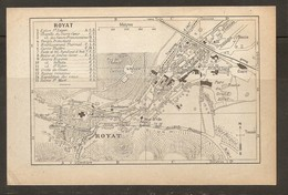 CARTE PLAN 1935 ROYAT - BAINS Et SOURCE CÉSAR EUGÉNIE VELLEDA VICTOR GROTTE Du CHIEN - Topographische Kaarten
