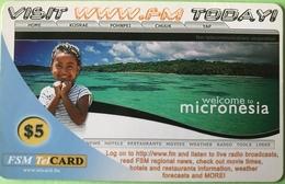 """MICRONESIE  -  Prepaid  -  """" Visit Today """"  $5 - Micronésie"""