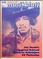 Musikblatt N° 6/90 Jimi Hendrix - Música