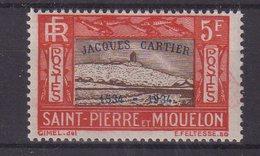 ST . PIERRE ET MIQUELON : N° 159 E * . TB . 1934 .  ( CATALOGUE YVERT ) . - St.Pierre & Miquelon