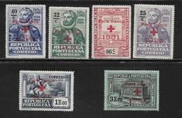 PORTUGAL (  PORT - 42 )   1931  N° YVERT ET TELLIER  N° 49/54  N** - Franchise