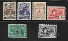 PORTUGAL (  PORT - 43 )   1929  N° YVERT ET TELLIER  N° 38/43  N* - Franchise