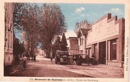 CPSM De MIRAMONT-de-GUYENNE (Lot & Garonne) - Route De Bordeaux.Couleurs. Edition Frogé. N° 179. Garage Peugeot. - France