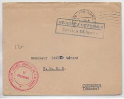 GUERRE D'ALGERIE - 1958 - ENVELOPPE FM Du COMITE ARMEES JEUNESSE DE L'ALGEROIS => CHERBOURG - Guerra D'Algeria