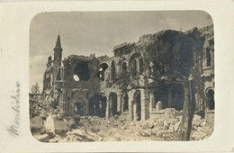 CARTE PHOTO ALLEMANDE - CHATEAU DE BOULOGNE LA GRASSE PRES DE RESSONS SUR MATZ - LASSIGNY OISE  GUERRE 1914 1918 - 1914-18