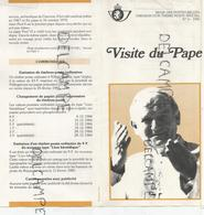Émission D'un Timbre-poste Spécial. Visite Du Pape Jean-Paul II En 1985. - Documents Of Postal Services