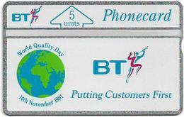 UK - BT - L&G - BTI-010 - World Quality Day - 131E - 5U, 1991, 3.100ex, Mint - Reino Unido