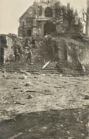 CARTE PHOTO ALLEMANDE - SOLDATS DEVANT L'EGLISE DE BOULOGNE LA GRASSE PRES DE RESSONS SUR MATZ OISE  GUERRE 1914 1918 - 1914-18