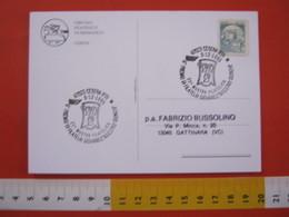A.13 ITALIA ANNULLO 1995 CESENA FORLI STEMMA ARALDICO TRE TESTE MALATESTA MOSTRA FILATELIA GIOVANILE GIUNCHI FR. BOBINA - Francobolli