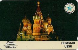 Russia - (Comstar) - GPT - St. Basil's Cathedral - 4SSRA - 1989, 30R₽, 25.000ex, Used - Rusia