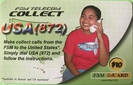 """MICRONESIE  -  Prepaid  -  """" FSM TELECOM COLNECT """"  -  $10 - Micronésie"""
