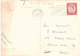 THE WEST CLOISTER WESTMINSTER ABBEY CARTOLINA PER BELGIO - 1952-.... (Elizabeth II)