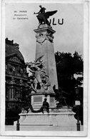 DEPT 75 : Paris 20 : édit. ? N° 20 : Monument Gambetta - Arrondissement: 20