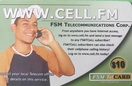 "MICRONESIE  -  Prepaid  -  "" WWW.CELL.FM ""  -  $10 - Micronésie"