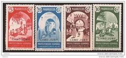 CJ112SF-L4004TESCO.Maroc.Marocco.CABO   JUBY. Sellos De Marruecos Sobrecargados.1937 (Ed 112/5**) Sin Charnela.MAGNIFICA - Cabo Juby