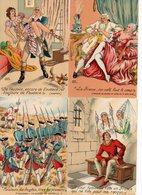 LOT 12 CP - Illustrateur JEAN PARIS - M. Barré & J. Dayez - Les Mots Historiques - Andere Illustrators