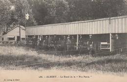 CPA:ALBERT (80) PERSONNES AU STAND DE TIR DE LA PRO PATRIA..ÉCRITE - Albert