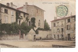LOIRE  REGNY  POSTES ET TELEGRAPHE  ECRITE COLORISEE - Other Municipalities