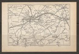 CARTE PLAN 1935 BOURBON L'ARCHAMBAULT - AUTRY ISSARDS SAINT MENOUX BESSAIS AGONGES - Carte Topografiche