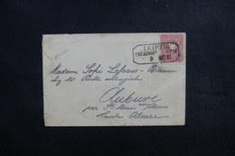 ALLEMAGNE - Enveloppe De Leipzig Pour Ste Marie Aux Mines En 1880, Affranchissement Plaisant - L 52718 - Germany
