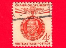 USA - STATI UNITI - Usato - 1961 - Campioni Di Libertà - Mahatma Gandhi - Apostolo Della Non-violenza - 4 - Stati Uniti