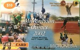 """2MICRONESIE  -  Prepaid  -  """" 5th Micronesian Games 2002 """"  -  $10 - Micronésie"""