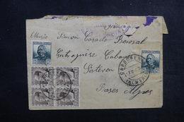 ESPAGNE - Enveloppe De Carboneras Pour La France En 1936 Avec Contrôle De Valencia , Affranchissement Plaisant - L 52719 - Republikanische Zensur