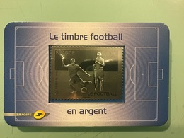 Timbre Argent LE FOOTBALL 2010 - Frankrijk