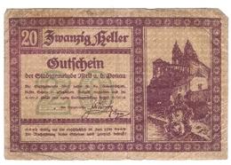 Österreich Austria Notgeld 20 HELLER FS605I MELK /152M/ - Autriche