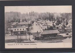 BRITISH COLUMBIA-DUNCANS-E. & N. RLY-RAILWAY-STATION-SENT POSTCARD-1907-TO BELGIUM-HIBBEN&CO-VICTORIA-LOOK 2 SCANS-RARE! - Canada