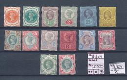 GREAT BRITAIN YVERT 91/104 LH - 1840-1901 (Victoria)