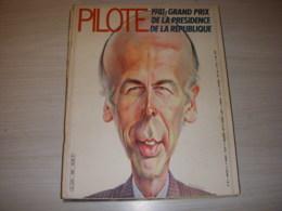 PILOTE MENSUEL 80 01.81 CARICATURE GISCARD COLUCHE PETITE CARICATURE MITCHELL - Pilote