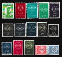1959 EUROPA CEPT EUROPE  ANNATA  YEAR 8 Paesi (15 Valori) MNH** CATENA CHAIN - 1959