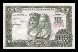 España 1000 Pesetas Reyes Católicos 1957 Pick 149 Sin Serie MBC VF - [ 3] 1936-1975: Regime Van Franco