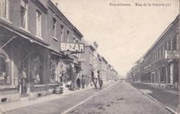 Erquelinnes Rue De La Station Circulée En 1911 - Erquelinnes